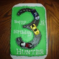 Car Birthday Cake   I made this for my nephew's 3rd birthday, along with some cupcakes! HE LOVED IT!!!!