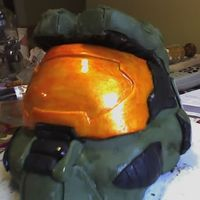 Halo 3 Cake We made a Halo 3 Helmet cake for my boyfriend's birthday... he LOVED it. I wish I'd had more time to re-do the top of the helmet...