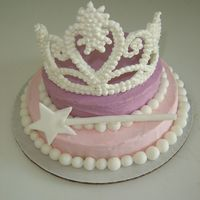 Tiara Cake We used the royal icing tiara instructions... the cake is ADORABLE... absolutely love it and the tiara was so easy and fun to make!!