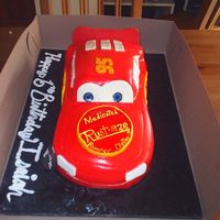 Cars Front View This was my first attempt at a cars cake I used the instructions suggested by all the wonderfull ladies in the forum. It is mmf, bc, and...