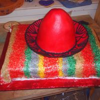 Sombrero And Sarape Cake This cake was for a 40th birthday the sombrero was made using the wilton instruction guide.