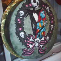 Nightmare Before X-Mas This was a novice attempt for a customer who was very into it.