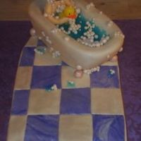 Baby Bubble Bath   the theme was inspired by the client. It was really fun to do. mmf and carved white cake.