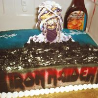 Iron Maiden B-Day This was all bc made for a fan of the Group. The Mummy is a pic on a stand inserted in the cake.