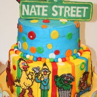 Nate's 2Nd Birthday  I made this for Nate's 2nd Birthday. Buttercream icing with fondant decorations. The characters and sign are all chocolate transfer. I...