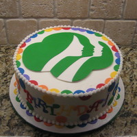Happy Birhtday Girl Scouts  I did this cake for my daughter's Girl Scout Daisy troop for Girl Scout Week. The organization is celebrating their 98th year this...