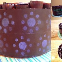 December 7Th Birthdays 2 6 and an 8 chocolate cakes with chocolate chip cookie inside and with ganache frosting and filling. Wrapped in chocolate with chocolate...