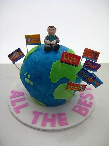 Farewell Globe Cake This is my first round cake and the initial covering of the cake was more challenging than i thought but it was a lot of fun :) I made this...