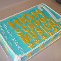 High School Musical 2 This cake is for a family friend. She wanted High School Musical...2 (not 1 but 2) and she wanted Troy somewhere on the cake. This is a...