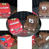 Disney Cars this is the first time we (me and another decorator) have ever done cakes like this before. It was hard, fun (kinda) and we were very happy...
