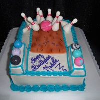 Bowling Party I did this for my little sister who had her party at the bowling alley. had so much fun with this one, she loved it