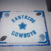 Homecoming Cake This cake was created for a children's football team for homecoming. The team's colors matched the Cowboys...Unfortunately, there...
