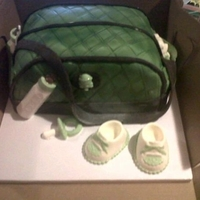 Diaper Bag Diaper bag cake with chocolate accessories