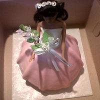 Doll Cake Princess doll for a little girls birthday!