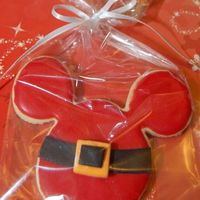 Mickey Santa NFSC with royal icing & MMF belt. made for a Disney employee to pass out on Christmas eve.