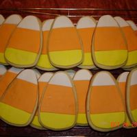 Candy Corn Cookies NFSC with fondant decorations