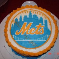 Ny Mets Cake I had a birthday party for me and my parents since we have birthdays right around the same time and we are all Met fans. It is a chocolate...