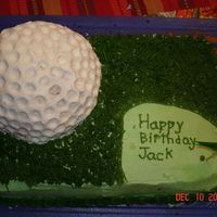 Birthday Golf Cake 1 9x13 cake, chocolate mousse filling. Chocolate cake, buttercream icing.