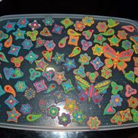 Fondant And Royal Icing Rainbow Shapes These were inspired by the work of ShamsD and IcingDreams from the Flickr site, not sure if they are on cake central and a gorgeous bright...