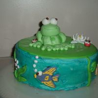 Frog On A Lillypad My first attempt at making fondant animals. Not for a special occasion, just for fun.I love frogs and wanted to experiment with some...