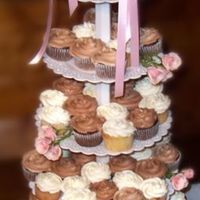 Wedding Cupcakes This was my first wedding cupcakes. YASC cupcakes with ivory swirled buttercream, and CASC cupcakes with chocolate swirled buttercream, a...