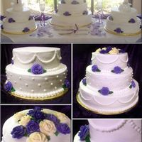 Lavendar Roses Wedding Cake