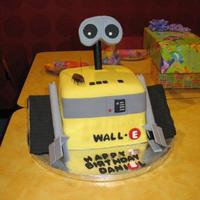 Wall-E Wall-E cake for my son's 7th Birthday. Egg free chocolate cake with oreo filling and covered in MMF. I was not happy with the...