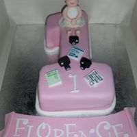 Cover Girl cake for a little girl who does Modeling and was 1