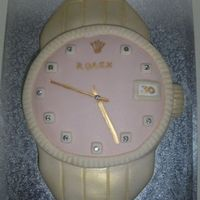 Rolex This was for a lucky girl who was getting a rolex for her birthday but it wasnt going to be there in time so had a cake made for the actual...