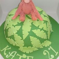 Orangutan This is a cake for a 21 year old who spent a couple of months with the Orangutans in Borneo, it is entirely fondant