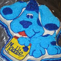 Blue Dog Cake Blue's Clues cake for my daughters 2nd birthday.
