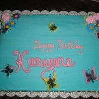 Butterfly Birthday Fondant butterflies and name.
