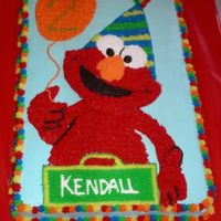 Elmo This was for my niece who turned 2!!! She's VERY into elmo and this cake was inspired by KimAZ on this website. I found it under elmo...