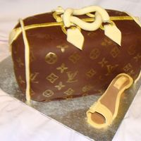 Lv Purse & Shoe LV Purse with gold and brown shoe with little pearls