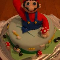 Super Mario Brothers I found this cake designed by Su-Yin and decided to try and replicate it. Made this cake for a 10 year old boy and it was a hit. Chocolate...
