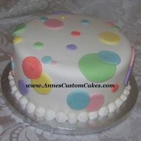 Polka Dot Cake   Very simple, per the hosts request, to go with theme.