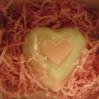 Heart Cake Mini hearts covered in fondant
