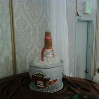 Budweiser Lovers   chocolate and carrot cake. bc with mmf. made this for my brother inlaw