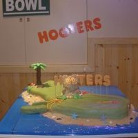 Hooters Guam Grand Opening Made this cake for the VIP Grand Opening party for Hooters in Guam. It was a HUGE cake. Island of Guam was a chocolate cake with chocolate...