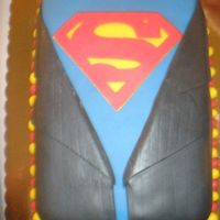 Superman I made this cake for my husband's birthday. 100% edible.