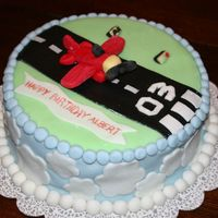 Airplane Landing  This cake was made for a three year old boy who is very interested in airplanes at the moment. My husband, the angel that he is actually...
