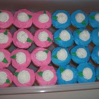 Rosette Cupcakes  This is the first cupcakes that I have ever tryed to sell. They done pretty good for the first time. The cake is a butter cake mix and the...
