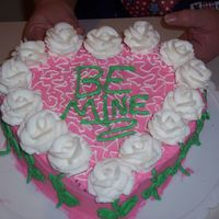 Valentine Heart Cake  This was the first heart cake I have done. I was very pleased with it. The only thing I do not like is the green for the letters. I was...