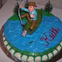 Trying To Go Fishing   Making this cake was a lot of fun. I cannot wait until I do some more.