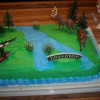 Hunting Cake  I made this cake for my grandpa for his 62 birthday. He loves to go hunting so I thought he would like it. When I made my icing, it didn&#...