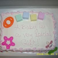 Baby Shower Cake just a really simple baby shower cake I made for a very distant cousin. buttercream icing. My sister and mother were supposed to take the...