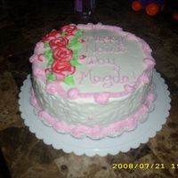 "10-25-08-153.jpg insanely last minute cake I made for an office party ""name day"". Thank you for looking! All buttercream. I used the Wilton..."