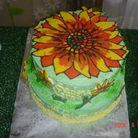 Sunflower Sunflower cake