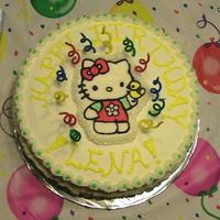 Hello K Itty Birthday Cake  Originally this cake was supposed to be COMPLETELY different than this. I ended up having to take my fiance to the hospital...so when I got...