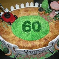 Lawn Mower Theme My customer called me 5 days before she required this cake and wanted a rather large sculpted lawn mower cake. ...ahh...not gonna happen!!...